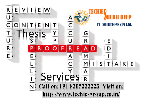 Thesis Proofreading Services In India